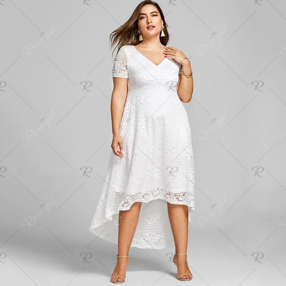 NWT White Plus Size A-Line Lace Dress NWT